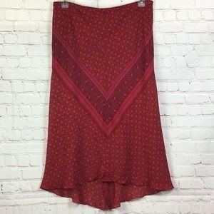 Express Hi-Lo lined handkerchief skirt. L